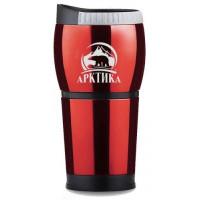 термокружка ARCTICA 807-400 невакуммная авто б/ручки красная