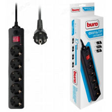 Фильтр сетевой Buro 500SH-5-B/W