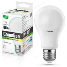 Лампа светодиодная LED E27 A60 11W 830 Camelion