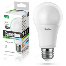 Лампа светодиодная LED E27 A60 13W 845 Camelion