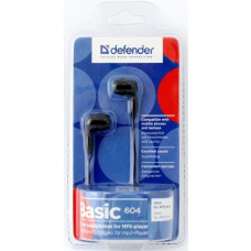 Наушники проводные Defender BASIC-604 черный вкладыши