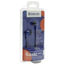 Наушники проводные Defender BASIC-604 Blue вкладыши
