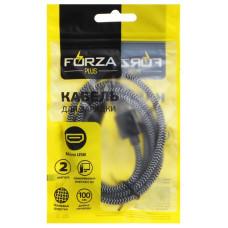 Кабель micro USB - USB 1м 2А FORZA 916-230 Волна