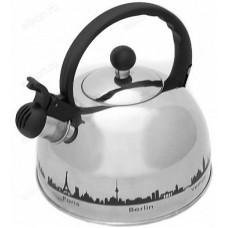 Чайник для плиты со свистком MALLONY MAL-CITY-01 3л индук/t*рис