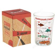 """Стакан граненый """"Рыбацкий стакан"""", 250 мл 1211174"""