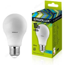 Лампа светодиодная LED E27 A60 10W 4K Ergolux