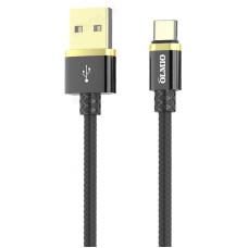 Кабель DELUXE, USB 2.0 - Type-C, 1м, 2.1A, OLMIO