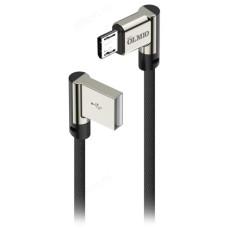Кабель USB - micro USB 1м 2.1А OLMIO угловой, тканевая оплетка
