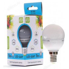 Лампа светодиодная LED E14 5W 4000K ASD шар