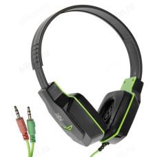 Гарнитура Defender Warhead G-320 черн+зелен.1,8м кабель