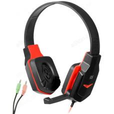 Гарнитура Defender Warhead G-320 черн+красный., 1,8м кабель