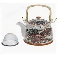 чайник заварочный керамический с плетёной ручкой ТР-090/135
