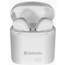 Гарнитура Bluetooth TWS Defender Twins 630 белый, беспроводная
