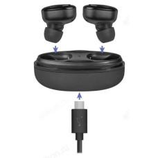 Гарнитура Bluetooth TWS Defender Twins 635 черный, беспроводная