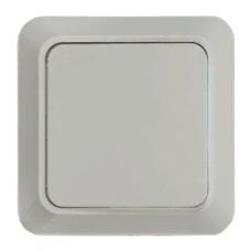 Выключатель одноклавишный BOLLETO белый накладной 7021 IN HOME