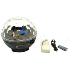 Диско-прожектор Магический шар В6139 музыкальный Bluetooth