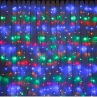 Гирлянда-штора №62 Волна 3*3 цветной