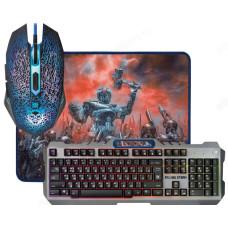 Комплект игровой кл+мышь+ковер DEFENDER Killing Storm MKP-013L RU