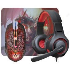 Комплект игровой мышь+гарнитура+ковер DEFENDER DragonBorn MHP-003