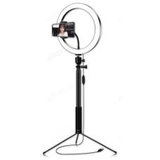 Трипод Огонек OG-SMH02 лампа кольцевидная со штативом (26см)
