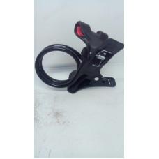 Держатель для телефона гибкий - 360, крепление прищепка черный, iLa