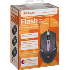 Мышь Defender провод Flash MB-600L 7цв 4кн,800/1200dpi