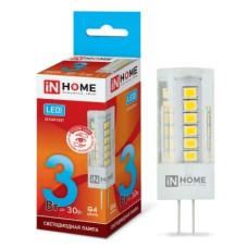 Лампа светодиодная LED G4 JC VC 3W 12V 4000K 260Лм IN HOME