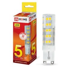 Лампа светодиодная LED G9 JCD VC 5W 230V 3000К 450Лм IN HOME