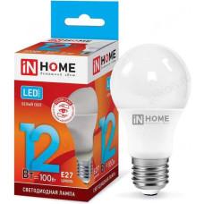 Лампа светодиодная LED Е27 A60 12W 230V 4000K 1350Лм IN HOME