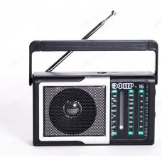 """Радиоприемник """"Эфир-16"""", УКВ 76-108МГц, СВ 530-1600КГц, КВ, бат. 2*AA, акб 500mA/h"""