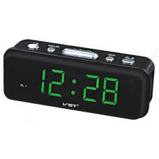 Часы настольные VST-738-4 зел.цифры
