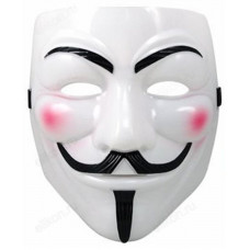 Игрушка маска для лица белая