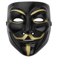 Игрушка маска для лица черная