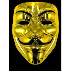 Игрушка маска для лица золотая