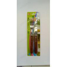 Набор вилка+нож дерево/металл 16407-105