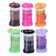 Набор резинок для волос BERIOTTI 10шт в тубе, полиэстер, 4см. 6 цветов
