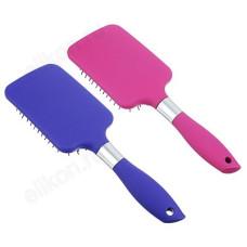 Расческа массажная плоская 25,5см ЮниLook 36180-5 пластик, силикон