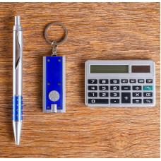 Набор подарочный 3в1 (ручка, калькулятор, брелок) 4429125
