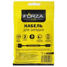 Кабель USB - ip 1м 2А FORZA Футбол, стикеры в комплекте