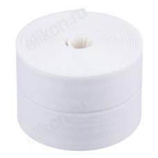 Лента бордюрная 60мм*3,35м ЕРМАК самоклеящаяся белая, полиэтилен