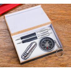 Набор подарочный 4в1 (2 ручки, нож 3в1, компас) 594020