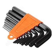 Набор ключей - шестигранников ЕРМАК 1,5-10мм, 9шт. (011)