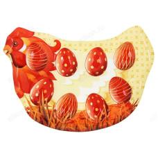 Блюдо-подставка для яиц 8 ячеек стекло 842-133