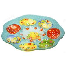 Блюдо-подставка для яиц 7 ячеек стекло 842-135