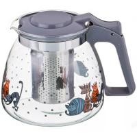 чайник заварочный стекло Коты 885-021