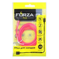 Кабель USB - micro USB 1м 2A FORZA Лето, прорезиненный