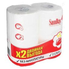Бумага туалетная SUNDAY 2сл (4рул)