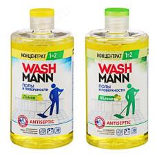 Средство для мытья полов WashMann Лимон/Яблоко, 650мл