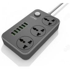 Фильтр сетевой LDNIO SC3604 2м 6 USB+ 3 комбо - розетки