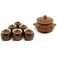 Набор горшочков+супница керамика 5 предметов